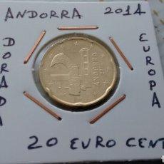 Euros: ANDORRA 20 EURO CENT 2014 EBC ENCARTONADA. Lote 193915425