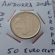 Euros: ANDORRA 50 EURO CENT 2014 EBC ENCARTONADA. Lote 193915508