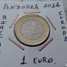 Euros: ANDORRA 1 EURO 2014 EBC ENCARTONADA. Lote 193915602