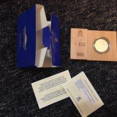 Euros: MONEDA 1 ECU 1989 CON CAJA. Lote 193940678