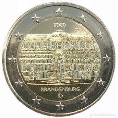 Euros: ALEMANIA 2020 2€ ESTADO DE BRANDEBURGO- PALACIO DE SANSSOUCI EN POTSDAM. Lote 194088357