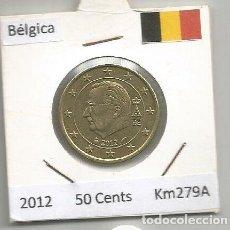 Euros: MONEDA DE BELGICA 50 CENTS DE EURO 2012 KM279A. Lote 194253112