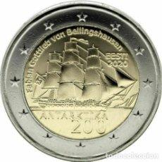 Euros: 2 EUROS CONMEMORATIVA ESTONIA 2020 ANTARTIDA SC. Lote 194338903