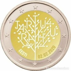 Euros: 2 EUROS CONMEMORATIVA ESTONIA 2020 PAZ TARTU SC. Lote 194338981