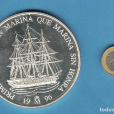 Euros: PLATA-ESPAÑA. 25 ECU 1996 (CINCUENTIN). 168,75 GRAMOS DE LEY 925. FRAGATA DE ÉLITE. Lote 194353653
