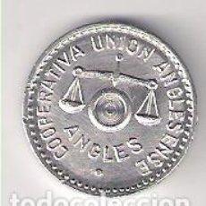 Euros: COOPERATIVA UNIÓN ANGLESENSE. PESETA DE ANGLÉS. ALUMINIO. SIN CIRCULAR. (C6).. Lote 194499951