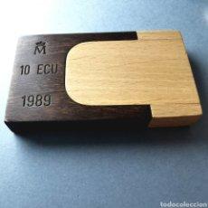 Euros: ESTUCHE ESPAÑA 10 ECU 1989. Lote 194538150