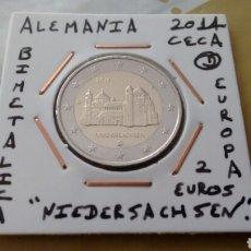 Euros: MONEDA 2 EUROS ALEMANIA 2014 CECA D NIEDERSACHSEN MBC ENCARTONADA. Lote 194591215