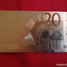 Euros: BONITO BILLETE 20 EUROS PLATA 99,9 % SILVER PURE COLECCION - BONITA PIEZA. Lote 194602250