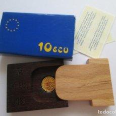 Euros: JUAN CARLOS I * 10 ECU 1989 * ORO. Lote 194653562
