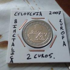 Euros: MONEDA 2 EUROS ESLOVENIA 2007 MBC ENCARTONADA. Lote 194690883