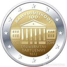Euros: ESTONIA 2019 2€ CENTENARIODE LA FUNDACIÓN DE LA UNIVERSIDAD DE TARTU. Lote 194700905