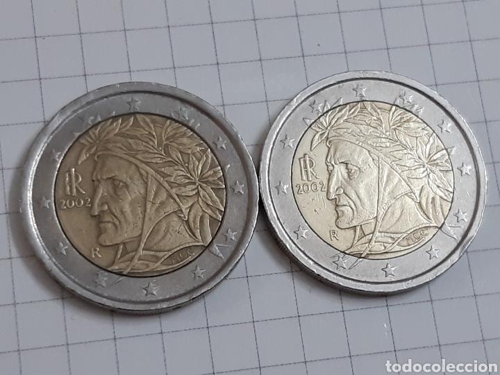 2 EUROS ITALIA 2002 DOS MONEDAS (Numismática - España Modernas y Contemporáneas - Ecus y Euros)