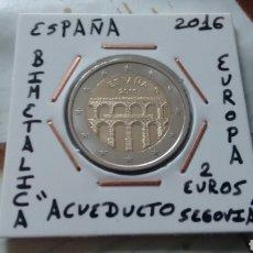 Euros: MONEDA 2 EUROS ESPAÑA 2016 ACUEDUCTO SEGOVIA EBC++ ENCARTONADA. Lote 194916320