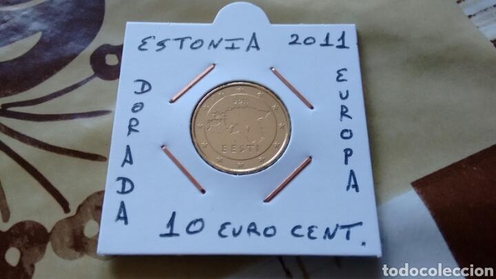 MONEDA 10 EURO CENT ESTONIA 2011 MBC ENCARTONADA (Numismática - España Modernas y Contemporáneas - Ecus y Euros)