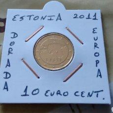 Euros: MONEDA 10 EURO CENT ESTONIA 2011 MBC ENCARTONADA. Lote 224800690