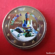 Euros: MONEDA DE 2 EUROS ESMALTADA. 2014. PARK GUELL GAUDI. Lote 195253611