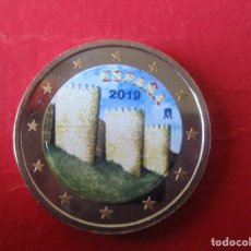 Euros: MONEDA DE 2 EUROS ESMALTADA. 2019. MURALLA DE AVILA. Lote 195253816