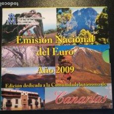Euros: EMISION NACIONAL DEL EURO AÑO 2009 CANARIAS SET 8 MONEDAS + MEDALLA SIN CIRCULAR FMNT. Lote 195274356