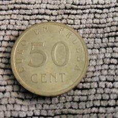 Euros: 50 CÉNTIMOS DE EURO. PRUEBA CHURRIANA. Lote 195459150