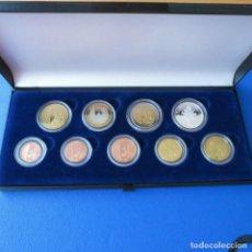 Euros: VATICANO 2005 JUEGO PRUEBAS - SPECIMEN BENEDICTO XVI CON MONEDA PLATA. MUY RARAS. Lote 195530403