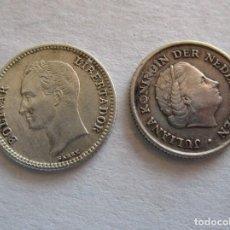 Euros: HOLANDA Y VENEZUELA . LOTE DE 2 MONEDAS DE PLATA . SIN CIRCULAR. Lote 195539997