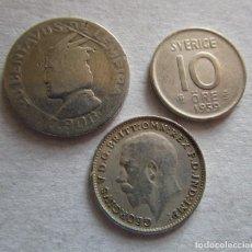 Euros: HONDURAS ,SUECIA ,REINO UNIDO . LOTE DE 3 MONEDAS DE PLATA .MUY BELLAS. Lote 195540903