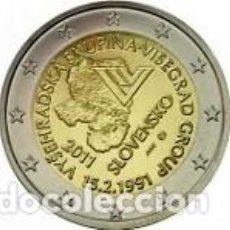 Euros: ESLOVAQUIA 2011. 2 EUROS. VIGÉSIMO ANIVERSARIO DE LA CREACIÓN DEL GRUPO DE VISEGRADO. S/C. Lote 279373943