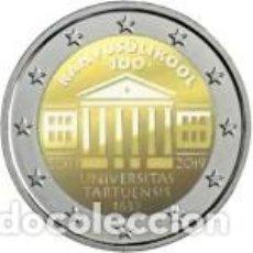 Euros: ESTONIA 2019. 2 EUROS. CENTENARIO DE LA FUNDACIÓN DE LA UNIVERSIDAD DE TARTU COMO UNIVERSIDAD NACION. Lote 231841265