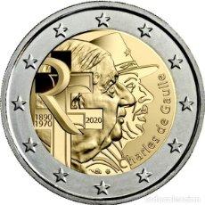 Euros: FRANCIA 2020 2 EUROS CONMEMORATIVOS CHARLES DE GAULLE. Lote 211506410