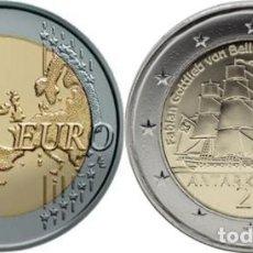 Euros: ESTONIA 2020 2 EUROS CONMEMORATIVOS ANTARTIDA. Lote 211506527