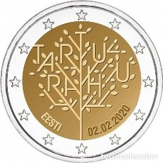 Euros: ESTONIA 2020 2 EUROS CONMEMORATIVOS TRATADO DE TARTU. Lote 211506560
