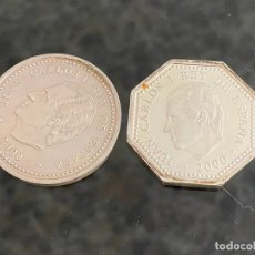 Euros: LOTE DE 2 MONEDAS DE PLATA , UNA DE 1500 PESETAS AÑO 2000 Y OTRA DE 2000 PTAS AÑO 2000. Lote 197829000