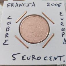Euros: MONEDA FRANCIA 5 EURO CENT AÑO 2006 MBC ENCARTONADA. Lote 198120830