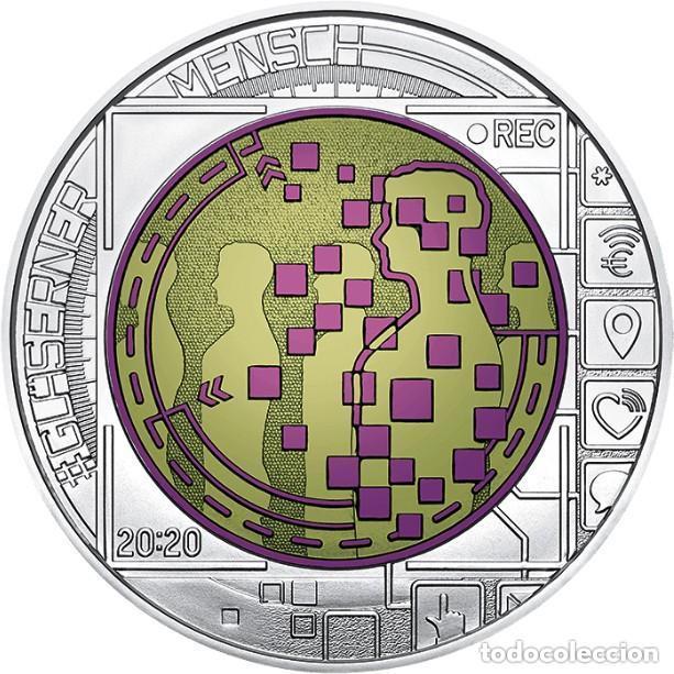 Euros: AUSTRIA 2020. MONEDA DE 25 EUROS DE NIOBIO. BIG DATA. CON CAPSULA, CAJA Y CERTFICADO - Foto 2 - 198360702