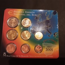 Euros: CARTERA 2001 ESPAÑA EUROS 8 VALORES FNMT. Lote 200592201