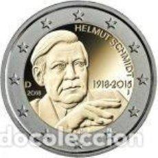 Euros: ALEMANIA 2018. 2 EUROS. CENTENARIO DEL NACIMIENTO DE HELMUT SCHMIDT. S/C. Lote 254223045