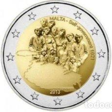 Euros: MALTA 2013 2€ HISTORIA CONSTITUCIONAL. AUTOGOBIERNO DE 1921. Lote 221837018