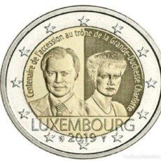 Euros: LUXEMBURGO 2 EUROS 2019 CENTENARIO DE LA ASCENSIÓN AL TRONO DE LA GRAN DUQUESA CARLOTA. Lote 203422697