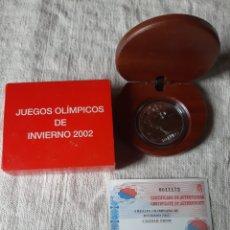 Euros: 2002 JUEGOS OLIMPICOS INVIERNO 10 EUROS PLATA CERTIFICADO 8 REALES PROOF FNMT DEPORTES. Lote 203965683