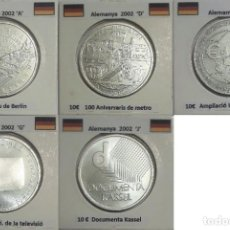 Euros: COLECCIÓN COMPLETA DE MONEDAS DE 10 EUROS ALEMANIA DEL 2002 AL 2015.. Lote 204412333