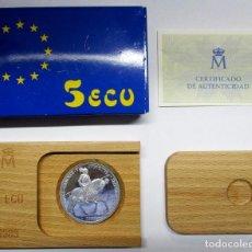 Euros: 5 ECU 1989. CARLOS I DE ESPAÑA Y V DE ALEMANIA EN PLATA DE 925/000. FDC. LOTE 2801. Lote 204978537