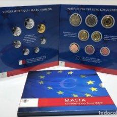 Euros: CARPETA OFICIAL DE EUROS DE MALTA DEL AÑO 2008 + SELLOS OFICIALES. Lote 205133075