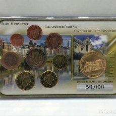 Euros: BLISTER DE EUROS DE IRLANDA VARIOS AÑOS SIN CIRCULAR + MONEDA CONMEMORATIVA / EDICION LIMITADA 50000. Lote 205133132
