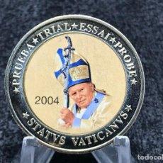 Euros: PRUEBA NUMISMÁTICA DE 10 EUROS DEL VATICANO AÑO 2004. Lote 205140822