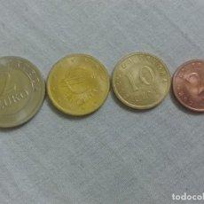 Euros: LOTE 4 MONEDAS DE EURO EN PRUEBA. 2 CÉNTIMOS, 20 CÉNTIMOS, 10 CÉNTIMOS, Y 2 EUROS.. Lote 205799830