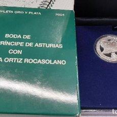 Euros: MONEDA PLATA 10 EUROS BODA FELIPE PRINCIPE ASTURIAS Y LETICIA PROOF LEER DESCRIPCIONORIGINAL. Lote 206145633
