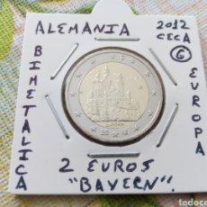 Euros: MONEDA 2 EUROS ALEMANIA 2012 CECA G BAYERN MBC ENCARTONADA. Lote 206541202
