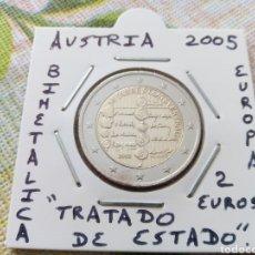 Euros: MONEDA 2 EUROS AUSTRIA 2005 TRATADO DEL ESTADO MBC ENCARTONADA. Lote 206541276