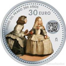 Euros: ESPAÑA 30 EURO 2019 PLATA - 200 AÑOS DEL MUSEO DEL PRADO -. Lote 206764351